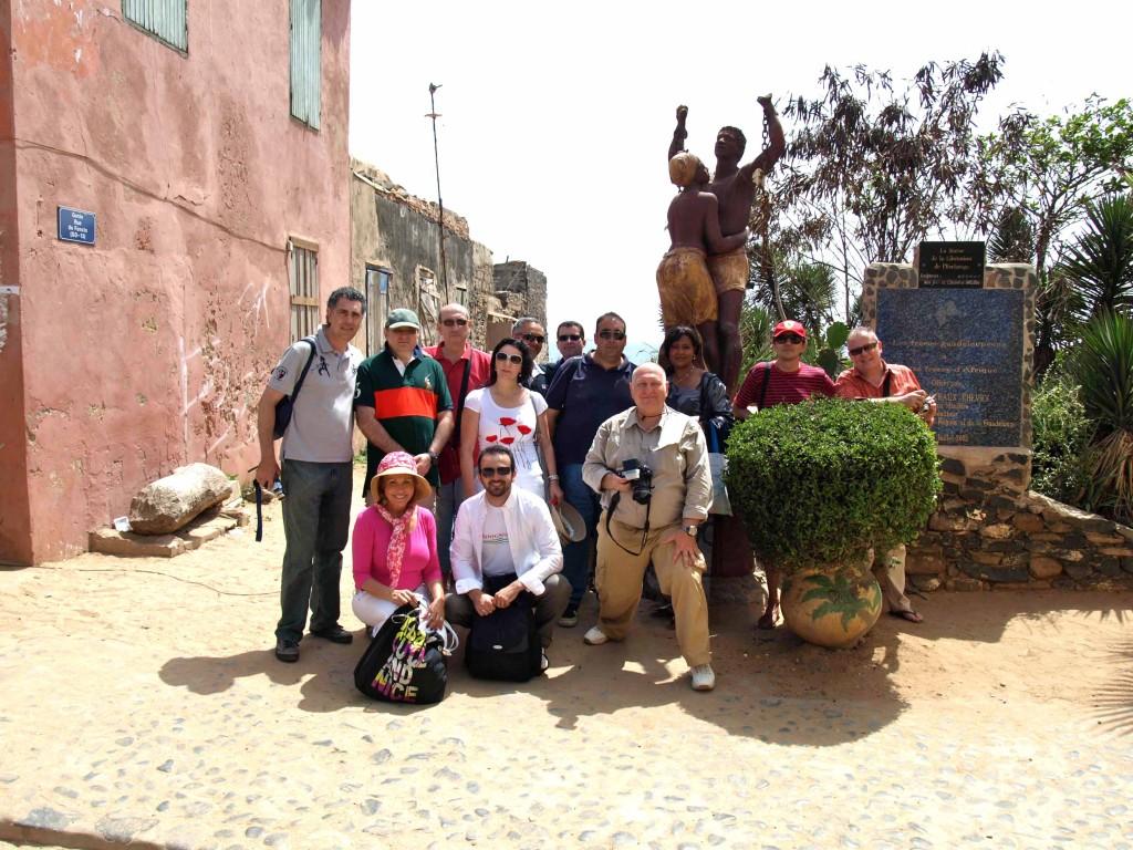 Nuestro grupo de prensa en la Isla de Gorée