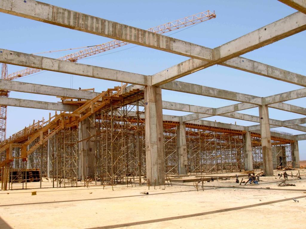 Obras del nuevo aeropuerto, Dakar.