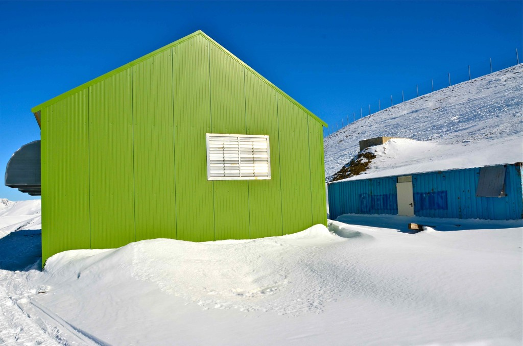Sede de la fábrica de nieve de Peyragudes. Altos Pirineos, Francia. Copyright Hernando Reyes