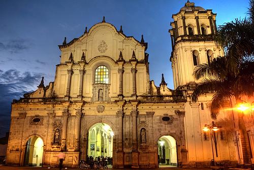 Iglesia colonial de San Francisco, Popayán, Colombia.