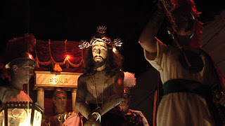 Procesión de Semana Santa en Mompox, Colombia.