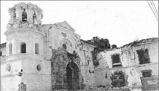 Imagen del terremoto de 1983 en la ciudad de Popayán, Colombia.