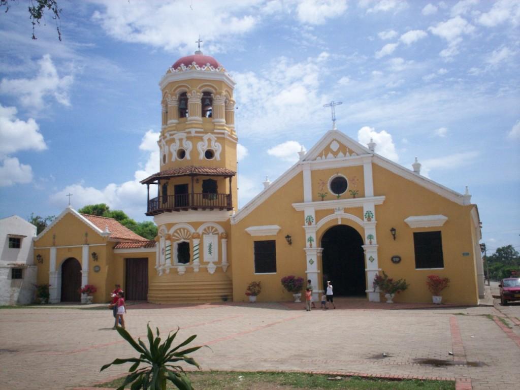 Iglesia de Santa Bárbara en Mompox, Colombia.