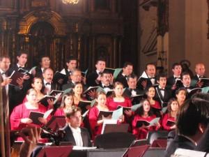Concierto de música religiosa durante el Festival de Música Sacra de Popayán, Colombia.