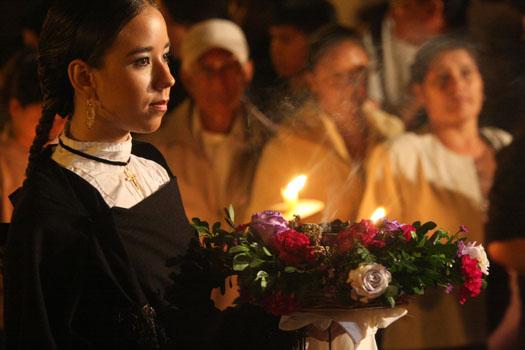 Procesión de Semana Santa en Popayán, Colombia.
